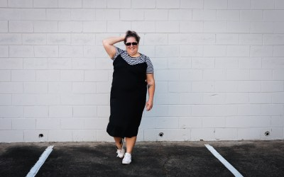 Layering t-shirts under camisole dresses