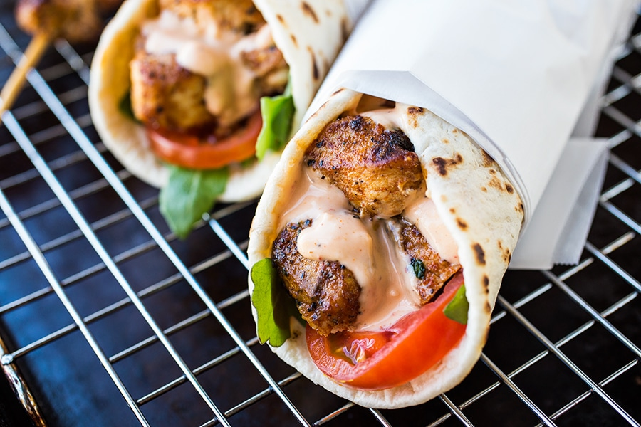 grilled-lemon-chicken-flatbread-wraps