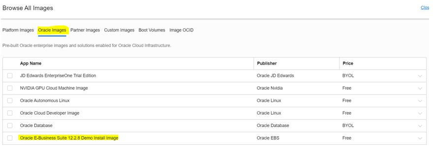 Click on Compute à Create New Instance à In this section select the Image Source as Oracle EBS 12.2.8 from Oracle Image