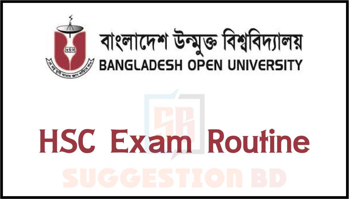 BOU HSC exam routine