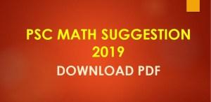 PSC Math Suggestion 2019