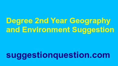 Degree 2nd Year Suggestion 2019 Geography and Environment