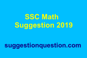 SSC Math Suggestion 2019