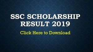 SSC Scholarship Result 2019