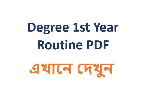 Degree 1st Year Routine 2019