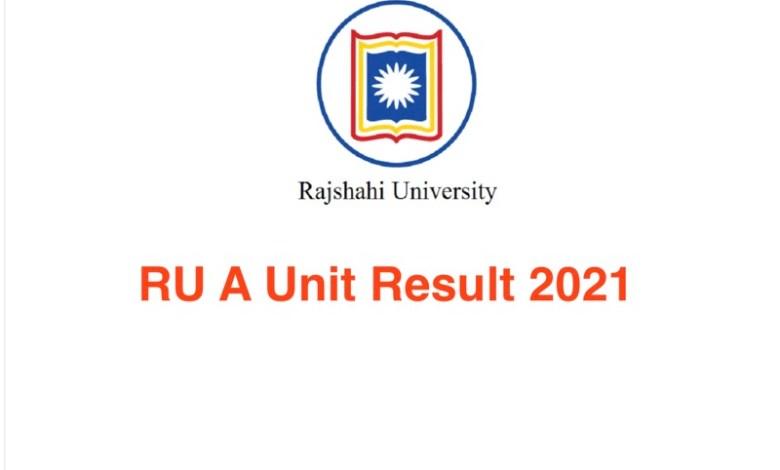 RU A Unit Result 2021 Rajshahi University Admission RU.ac.bd Result 2021