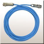 the sensor cable blue