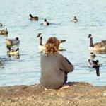 Yo'el with ducks