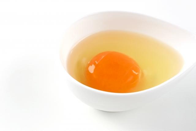 オレンジ色の黄身