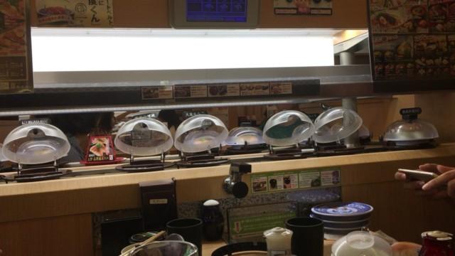 レーンが止まったくら寿司