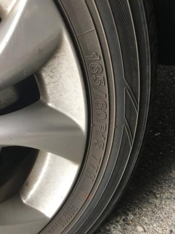 タイヤの数字