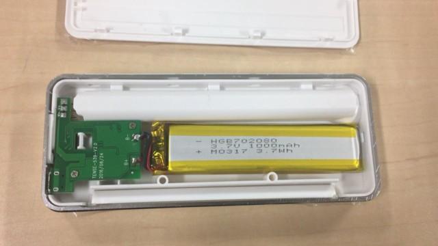 モバイルバッテリーの中身のリチウムポリマー電池