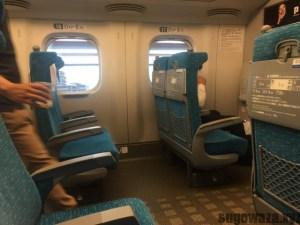 新幹線のシート