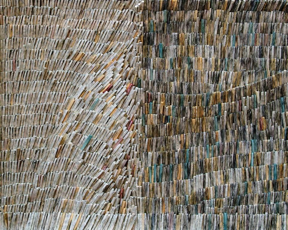 Lines of whisper, 2011, 90x75