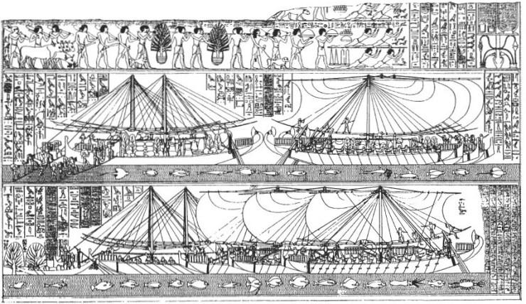エジプト 水中考古学 レリーフ画