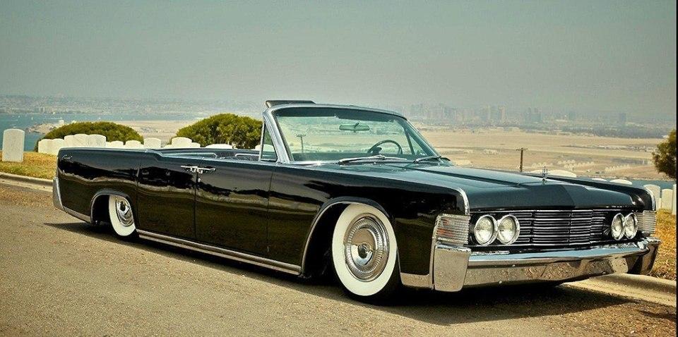 Black 1965 Lincoln Continental convertible