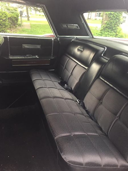 1965 Lincoln Continental rear interior shot