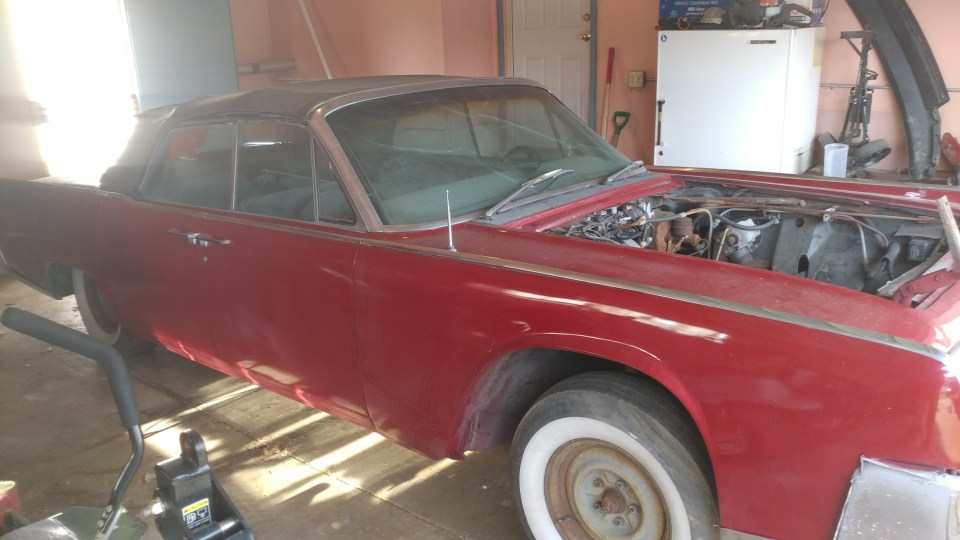 1964 Lincoln Continental convertible project for sale