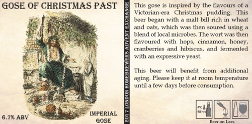 Bottle label for Gose of Christmas Past