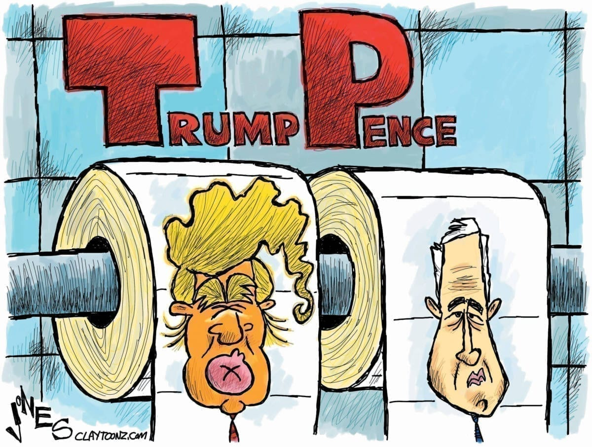 Image result for CARICATURE TRUMP PENCE
