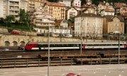 CH - CFF Bt VU IV (EC) dans un train de mesure à Neuchâtel