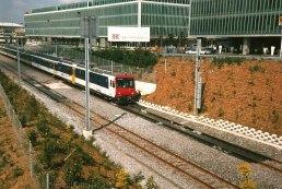 CH - CFF rame Colibri lors de l'inauguration de la gare de Genève-Aéroport