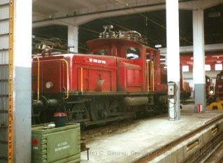 CH - CFF Ee 6/6 au dépôt de Bienne