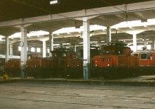 CH - CFF Ee 6/6 et Ee 3/3 au dépôt de Bienne
