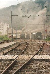 CH-VVT, gare de St-Sulpice enfumée
