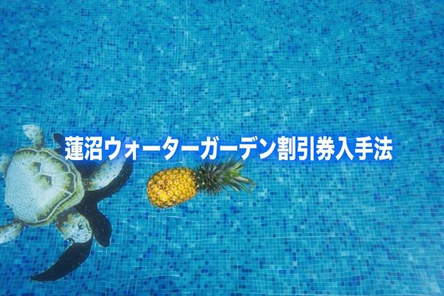 【蓮沼ウォーターガーデン割引チケット券2019】最安値は20%引き!6つの格安入手法
