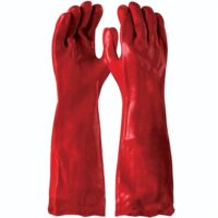 PVC Red Gloves CAT3 chemical resistance Gloves