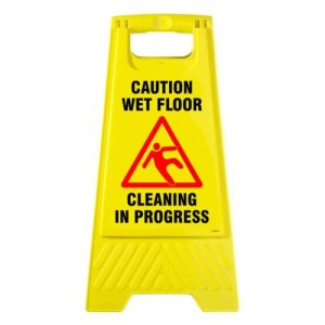 Caution Signs Cleaning In Progress
