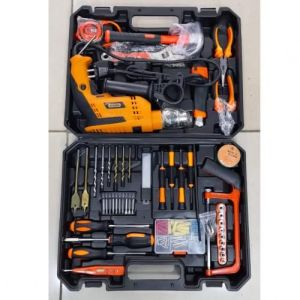 Dera Complete Toolkit With 750Watts Drill With HackSaw
