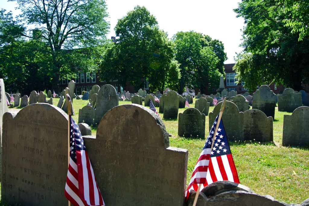 The Copp's Hill burying ground on Boston's Freedom Trail.