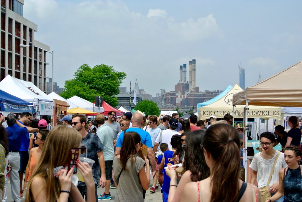 The Smorgasburg Flea Food Market in Williamsburg.