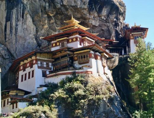 The sacred Tiger's Nest Monastery in Bhutan.