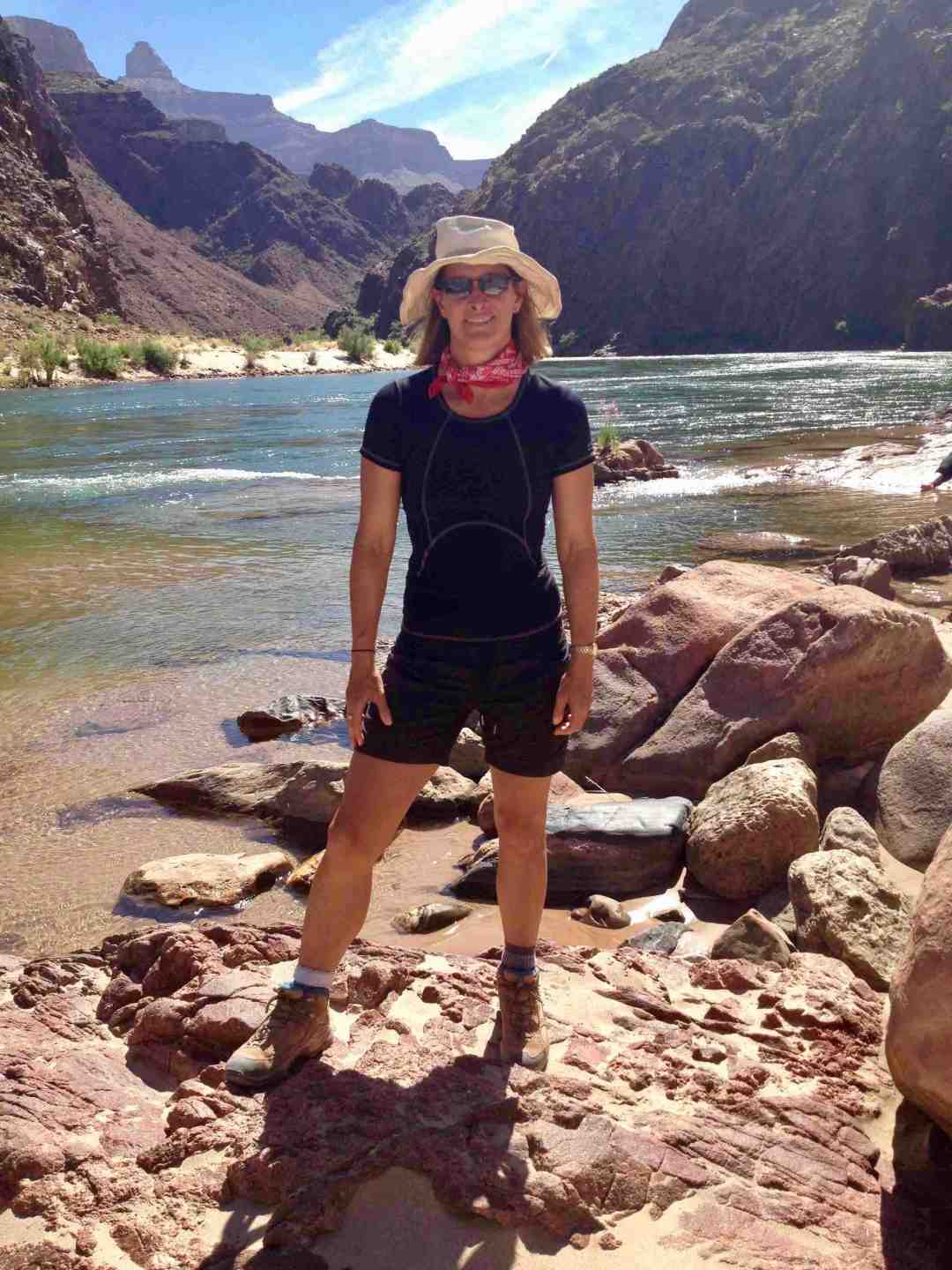 Favourite travel gear: hiking the Grand Canyon with my favourite travel hat.