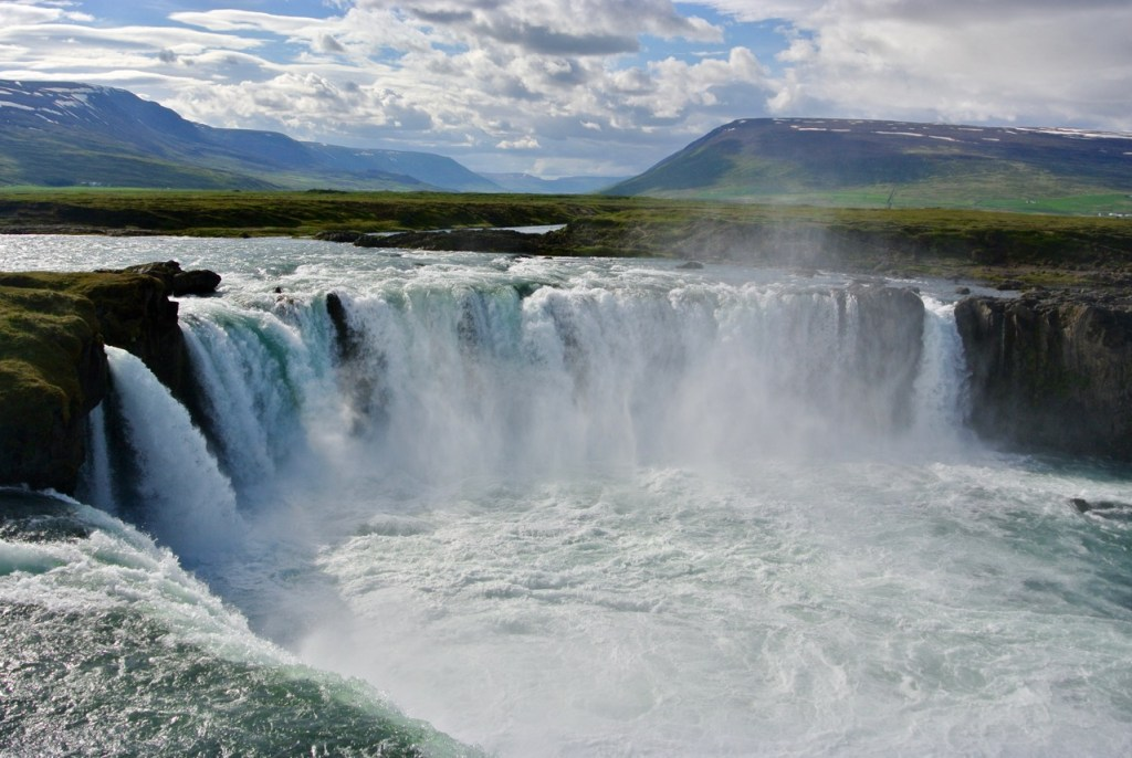 Godafoss waterfall in north Iceland.