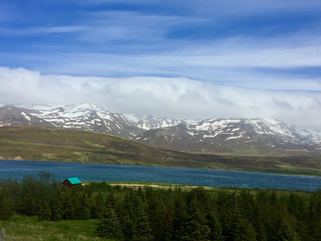A lone house enjoys stunning views in the fjords of northern Iceland.