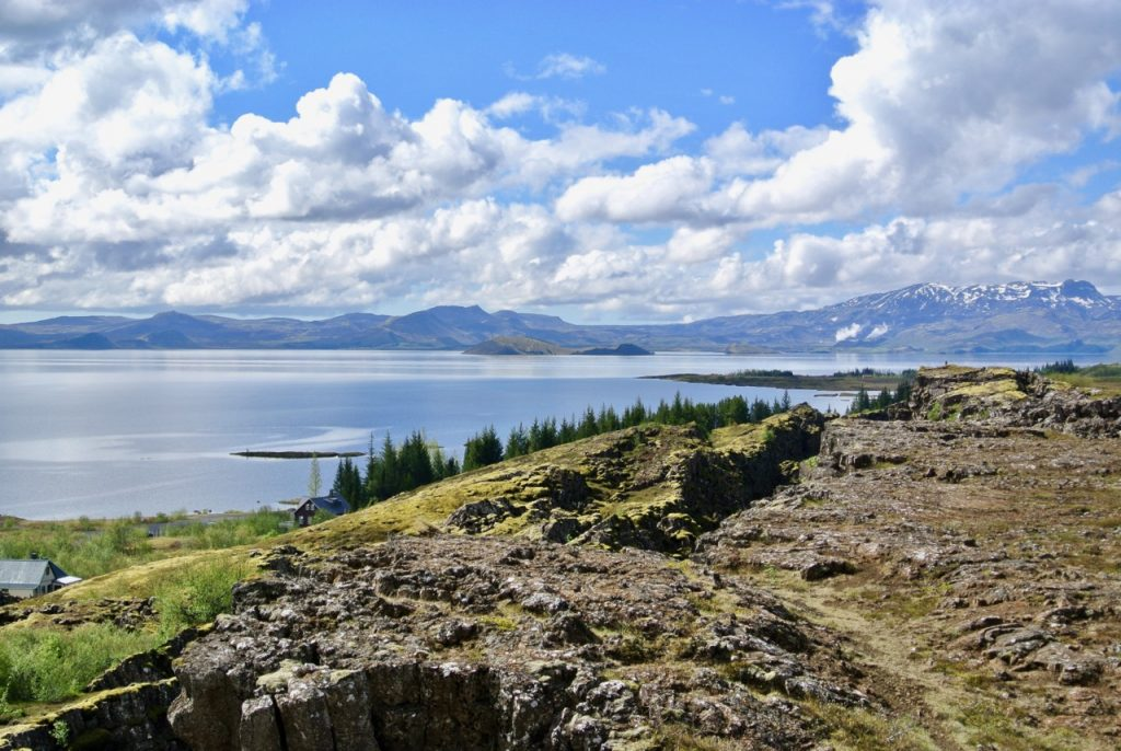 Thingvellir National Park is part of the Golden Circle and is where the European and American tectonic plates have collided to create a massive fissure in the earth.