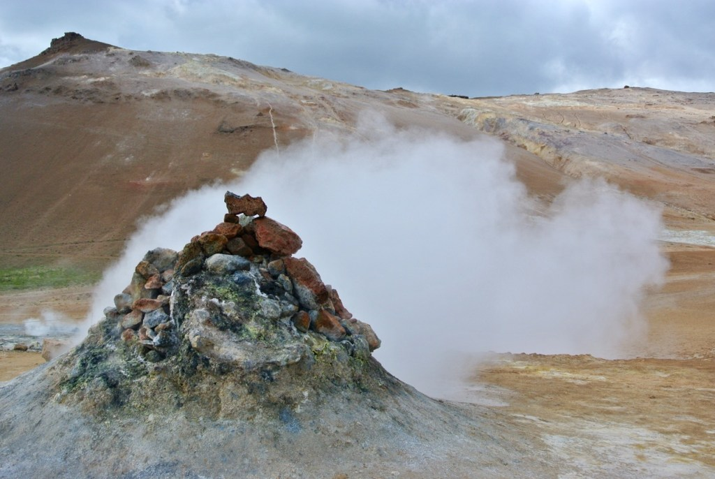 The Hverir geothermal area in north Iceland.