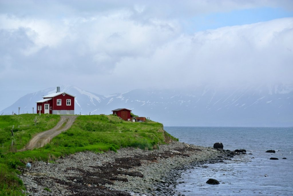 Iceland road trip: a home on the fjords of picturesque North Iceland.