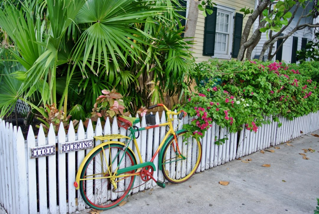 Cycling is the best way to get around in colourful Key West. The island is flat and has dedicated bike lanes.