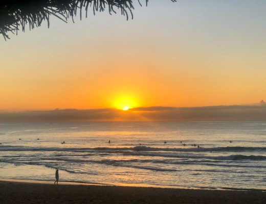 Sunrise at Manly beach Sydney Australia