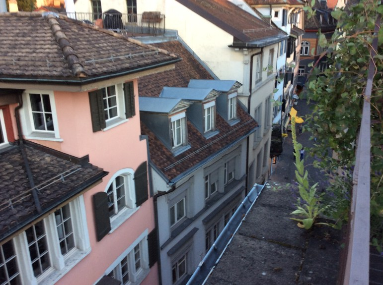 View from hostel in Zurich