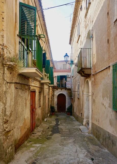Italian backstreet in calabria