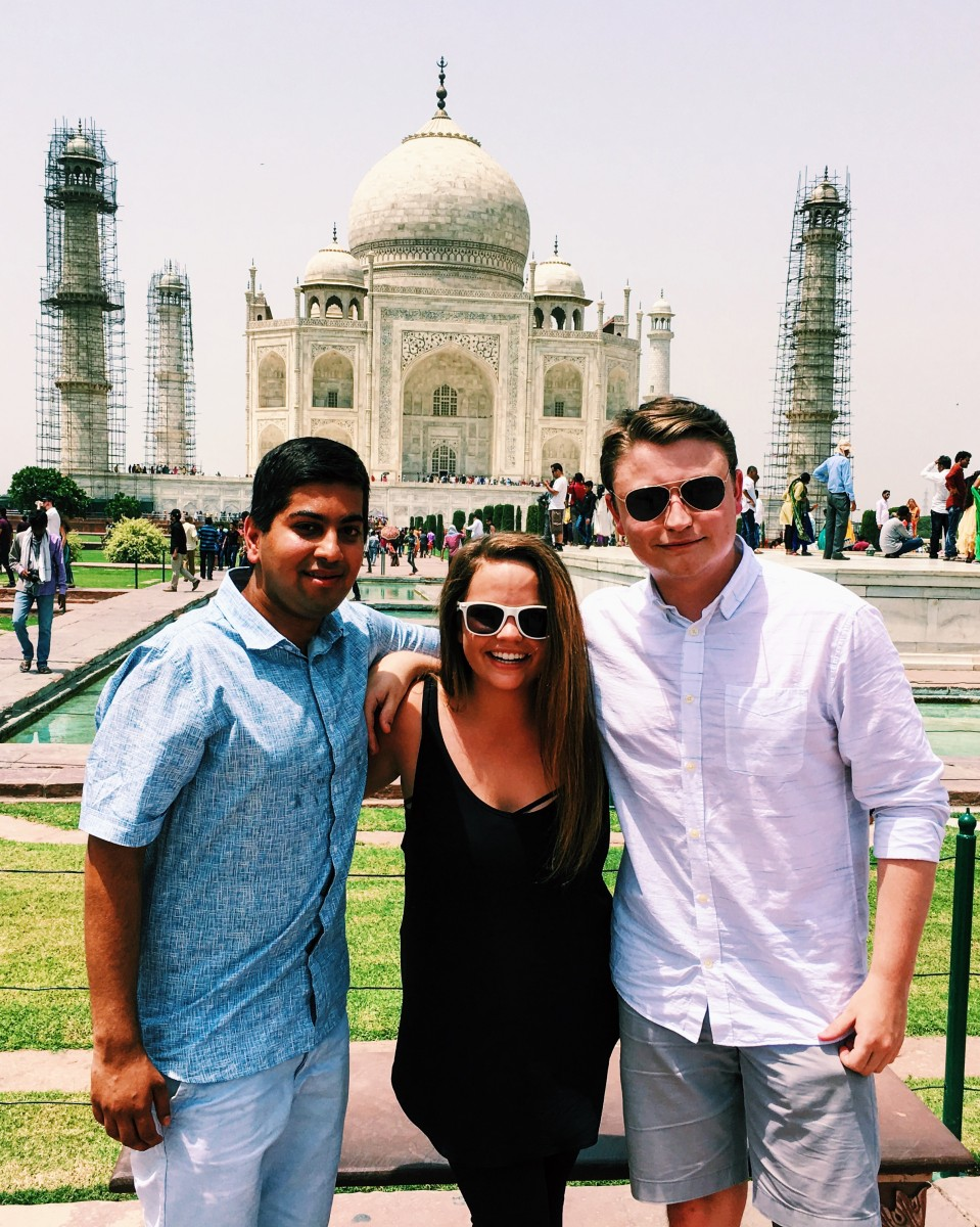 Melissa at the Taj Mahal