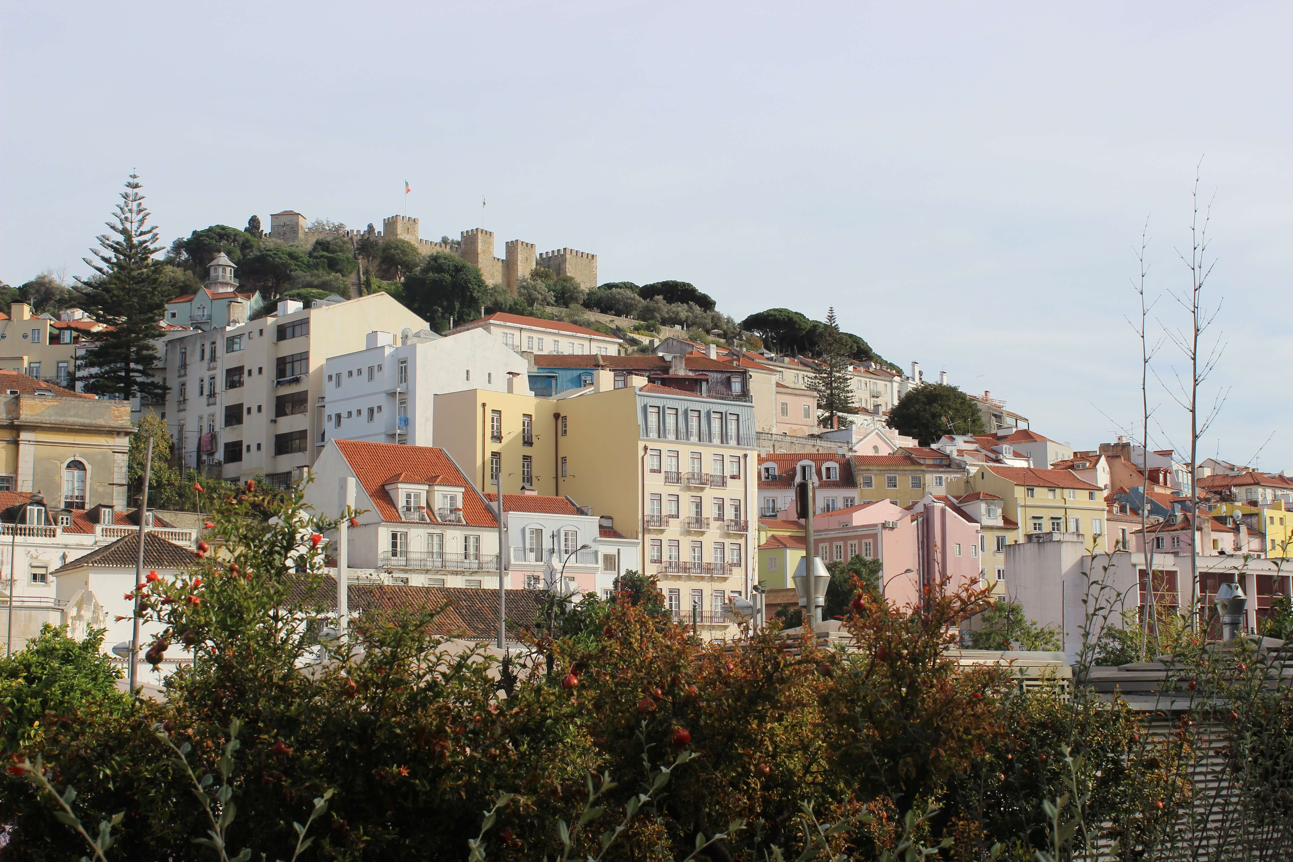 views of lisbon on a hill