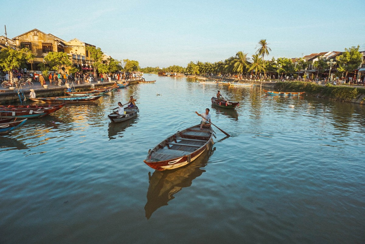 Golden hour in Hoi An