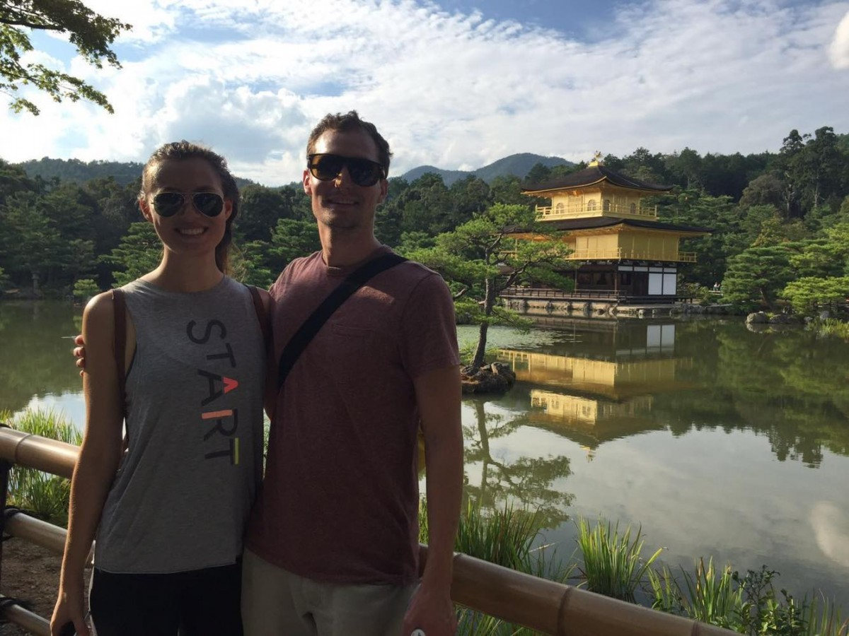 Woman of the Week: Stef with her boyfriend in Japan